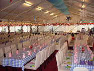 White Marquee Wedding Event Tents Waterproof Oem For Outdoor Celebration